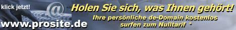 Internet-Dienstleistungen: PROSITE - KOSTENLOS ANMELDEN !