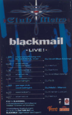 · BlackMAIl  @ Club Metropolitain ! ·