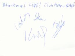 · Das BlackMAIl Autogramm - gruss  C. ! ·