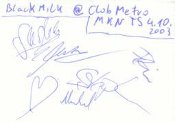 · Das Black Milk Autogramm - gruss  C. ! ·