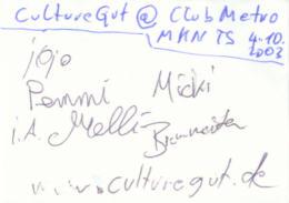 · Das Culture Gut Autogramm - gruss  C. ! ·