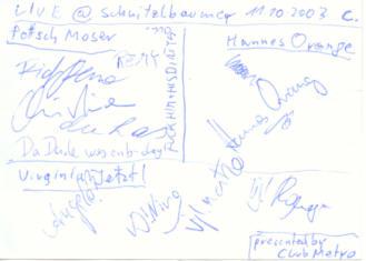 · Das  Virginia Jetzt! Petsch Moser Hannes Orange Kombi-Autogramm - gruss  C. ! ·