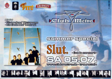 · SLUT LIVE  @ Club Metropolitain  ! ·